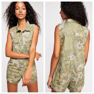 NWT Spell & The Gypsy Eden Romper Floral Green